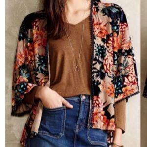 Sunday in Brooklyn/Anthro Velvet Kimono Size M